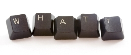"""Business Englisch """"W-H-A-T?"""" Tastaturbuchstaben"""